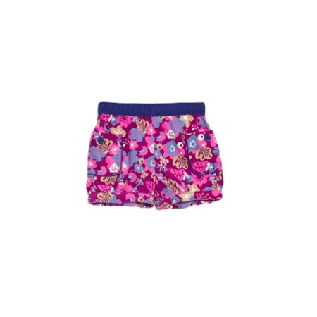 Bossini Girls Reliable Cute Floral Print Corduroy Shorts with Pocket ,US Size 4t - 16,Purple