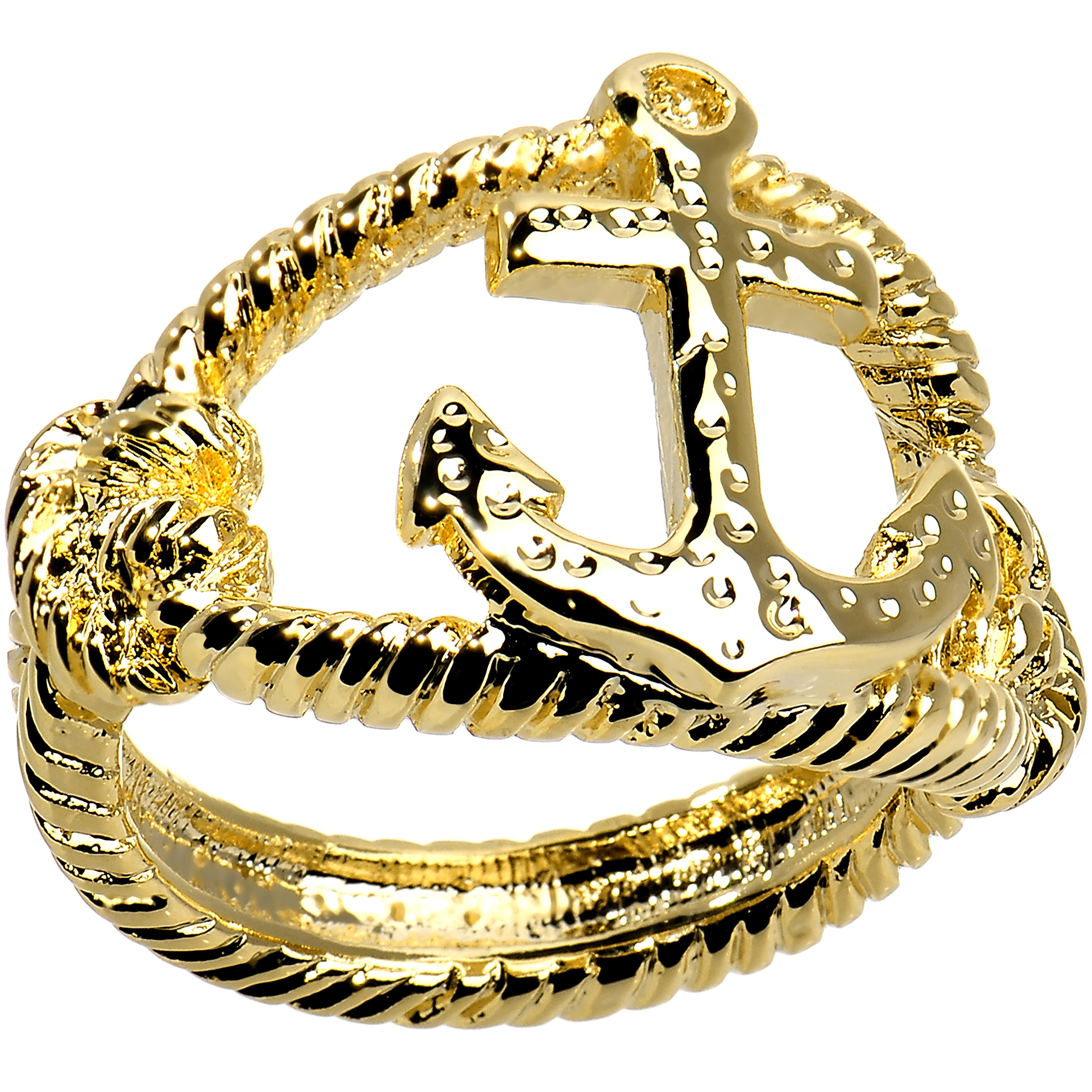 Nautical Anchor with Rope Ring Size 7