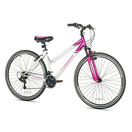 Bicycle Hybrid (Susan G Komen 700C Women's, Hybrid Bike, Pink/White, For Ages)