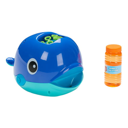 Play Day Bubble Whale Battery Operated Bubble Maker Toy with Bubble Solution, 4 Ounces for $<!---->