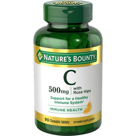 Natures Aid Rose (Nature's Bounty Vitamin C with Rose Hips, 500mg Tablets, 90ct )