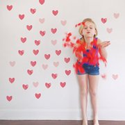 Hearts Fabric Wall Decals