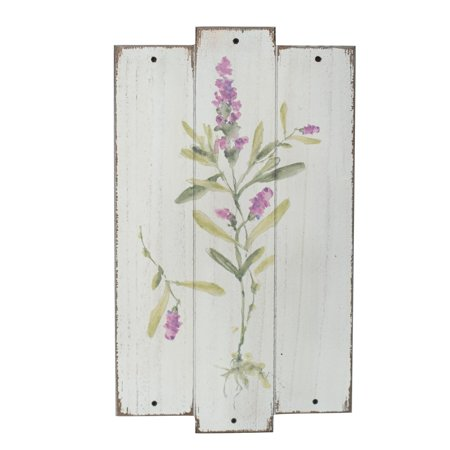 Foreside Home and Garden Flower Plaque