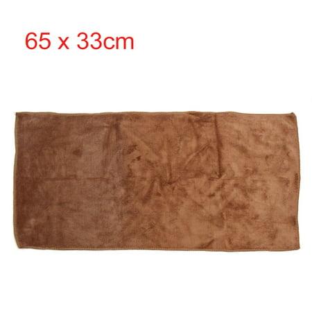 2pcs 400g/m2 65x33cm microf. Couleur Café Bleu-Serviette Lavage Voiture - image 3 de 5
