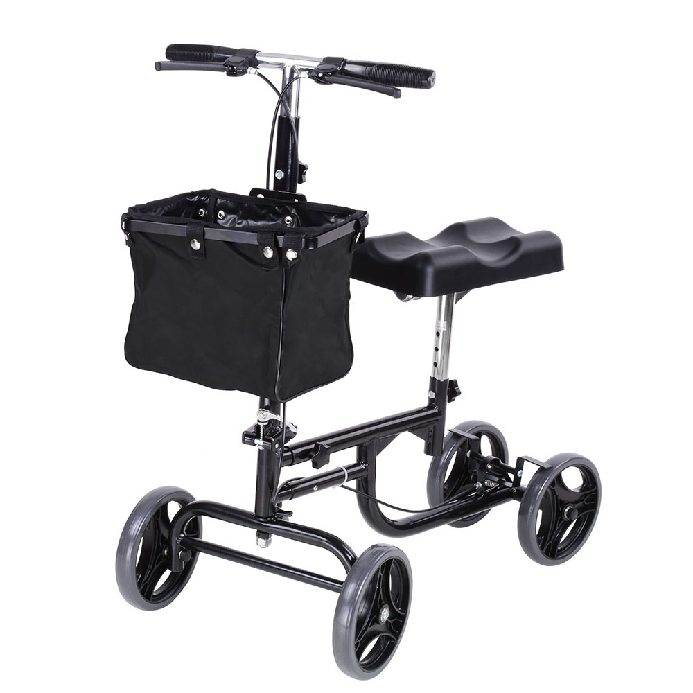 Steerable Knee Walker Scooter w/ Basket Rolling Wheel Weight Capacity 300 lbs