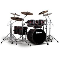 Ddrum Hybrid, 6-Piece, Black/Red