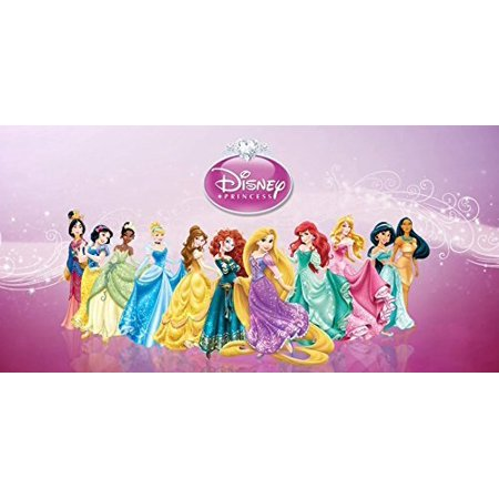Disney Princess Snow White Cinderella Aurora Ariel Belle Jasmine Pocahontas Mulan Tiana Rapunzel Merida Edible Image Photo 1/4 Quarter Sheet Cake Topper Personalized Custom Customized Birthday Party - Belle And Snow White