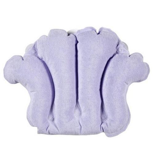 Living Healthy Products 31012PUS Terry Bath Pillow in Purple