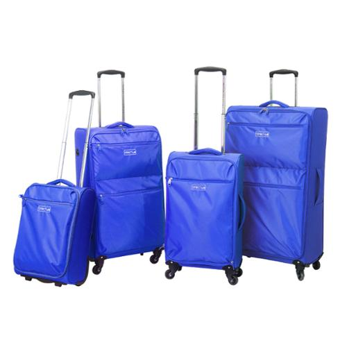 Traveler's Club Cloud 4-piece Super-Lite Spinner Luggage Set Blue