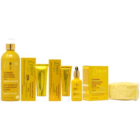 Lemon Glow Package I (Lotion 16.8oz + Soap 7oz + Cream 1.7oz + Gel 1oz + Serum (Lemon Skin Lightening Serum)
