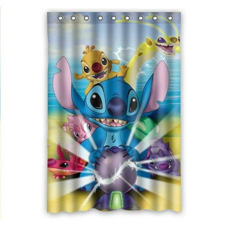 DEYOU Cartoon Style Cute Lovely Spongebob Ocean Funny Shower Curtain Polyester Fabric Bathroom Size