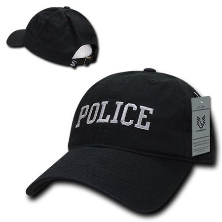 Black Police Officer Law Enforcement Cop Low Crown Baseball Polo Style Cap Hat](Keystone Cop Hat)