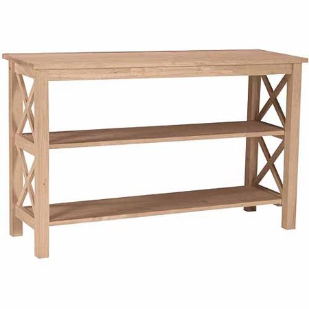 International Concepts Hampton Console or Sofa Table, Multiple Colors (Unfinished Mission Entry Table)
