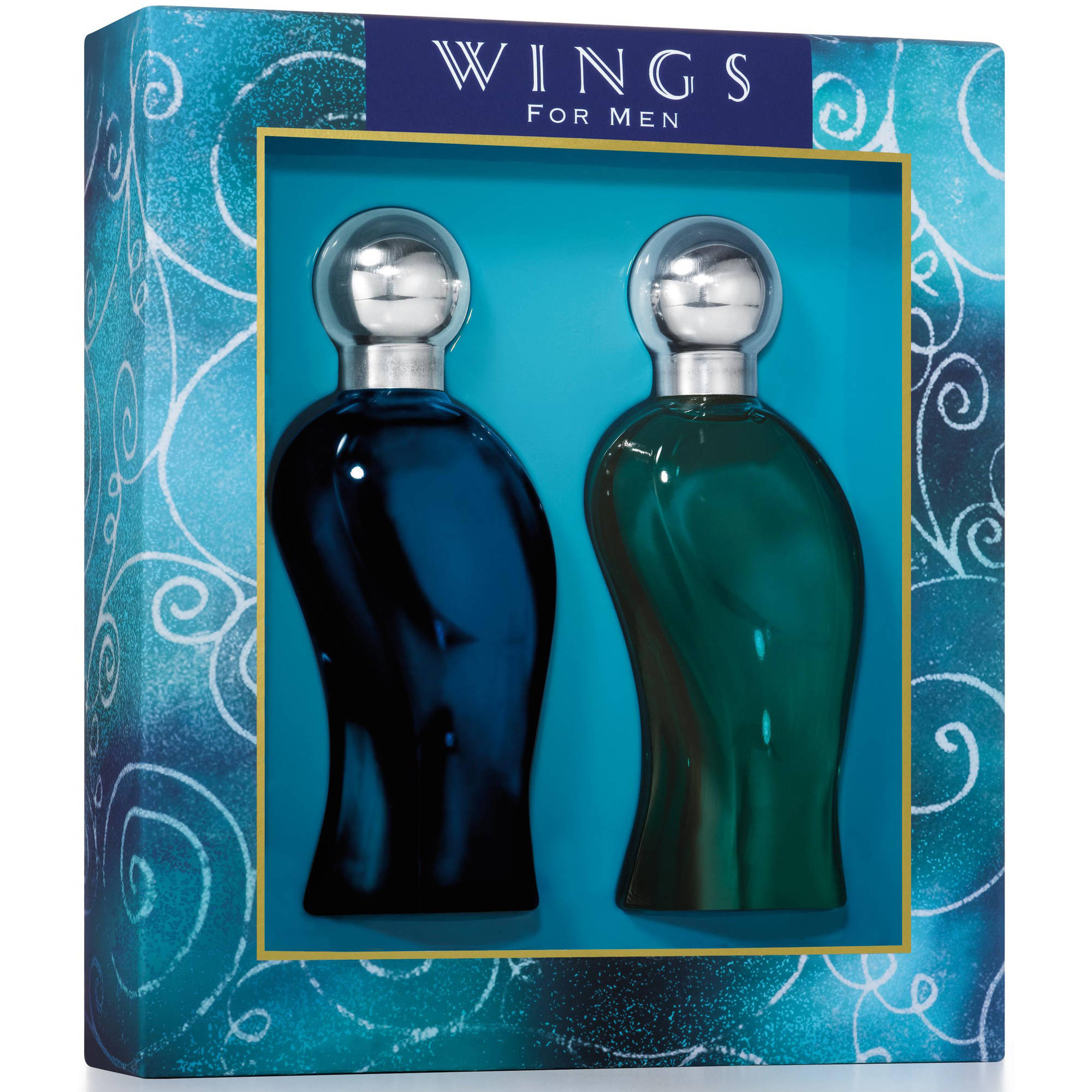 Wings by Giorgio Beverly Hills for Men - 2 pc Gift Set 3.4oz edt Spray, 3.4oz after shave