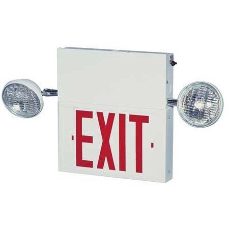 BIG BEAM BIG BEAM Steel LED Exit Sign with Emergency Lights, (Big Beam Emergency Lighting)