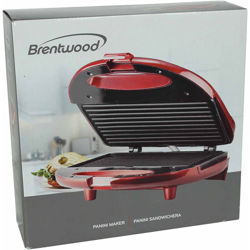 Brentwood Panini Maker, Red