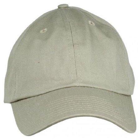 a33830a7 DALIX Unisex Cotton Cap Adjustable Plain Hat - Unstructured in Khaki Brown