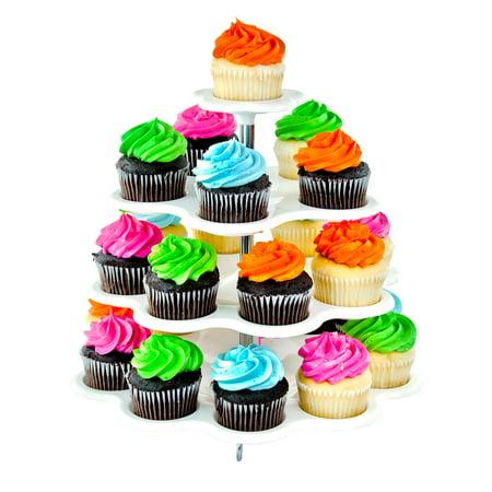 Plastic 4-Tier Wedding Birthday Cupcake/ Desert Stand