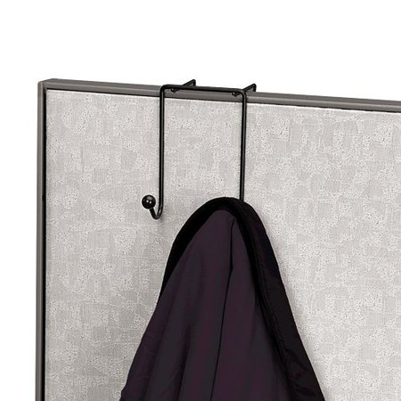 - Wire Partition Additions Double Coat Hook (75510), Double coat hook easily mounts over a partition wall By Fellowes