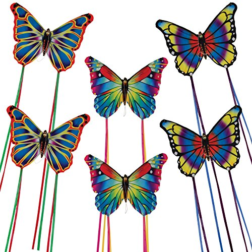 In the Breeze Colorful Butterfly Kites Assorted Printed Designs Single Line Kite 16 Inch Wide by 12 Inch High... by INBAT