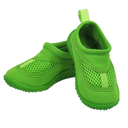 Iplay Unisex Boys or Girls Sand and Water Swim Shoes Kids Aqua Socks for Babies, Infants, Toddlers, and Children Lime Green Size 7 / Zapatos De Agua