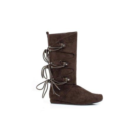 Ellie Shoes E-011-Forest 0 Heel Children Microfiber Boot Brown / L [2/3 USA childs] - image 1 de 1