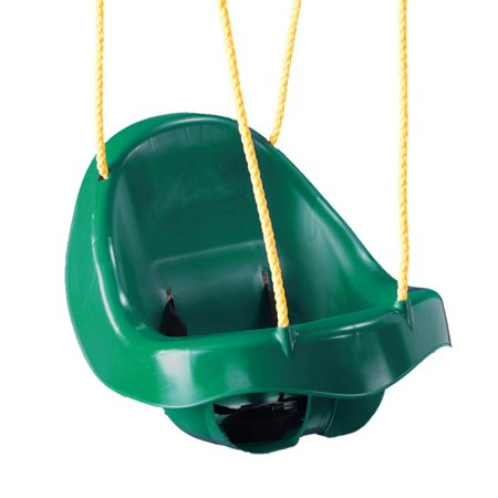 Swing-N-Slide Child Swing with Safety Belt and Nylon Rope- Green Childs Slide And Swing