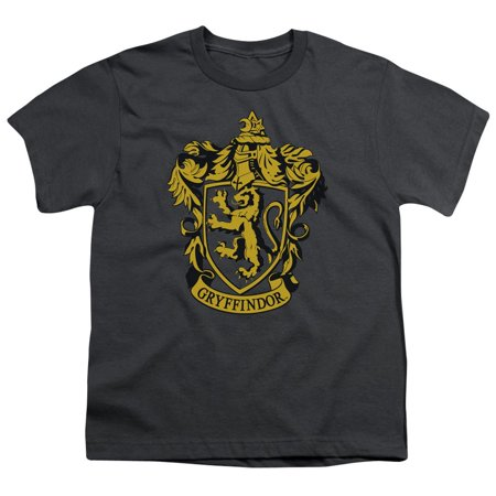 Harry Potter - Gryffindor Crest - Youth Short Sleeve Shirt - Large