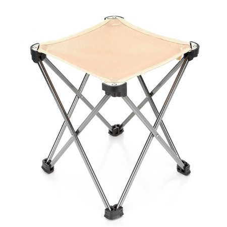Fabulous Folding Camping Stool Portable Chair For Camping Fishing Hiking Gardening And Beach Camping Seat With Black Bag Khaiki Ibusinesslaw Wood Chair Design Ideas Ibusinesslaworg