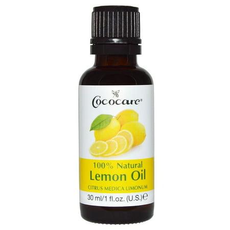 Cococare 100% Natural Lemon Oil, Citrus Medica Limonum, 1 Fl Oz (30