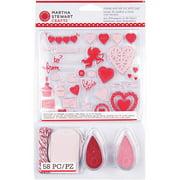 """""""Martha Stewart Valentine Stamp & Ink Set W/Tags 5""""""""X5.5""""""""-         """""""