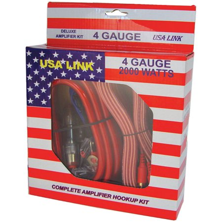Qpower 4GAUGE *usa Link* 4g. Amp Wiring Kit W/rca Cables; Qpower (Rca Amp)