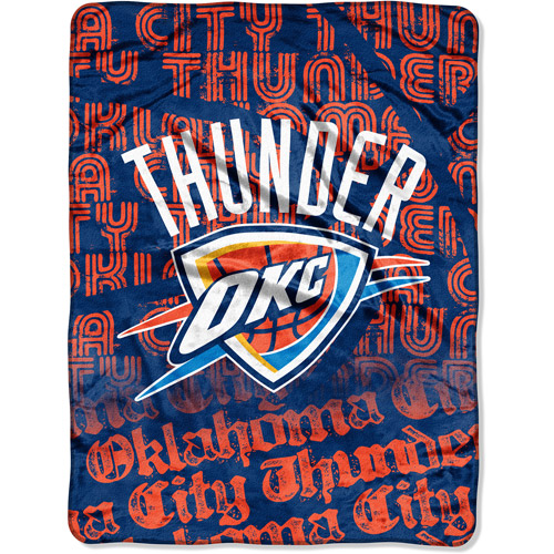 "NBA Redux Series 46"" x 60"" Micro Throw, Oklahoma City Thunder"