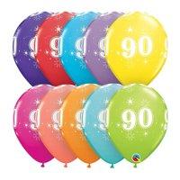 Qualatex 85942 11 in. 90th Birthday A Round Latex Balloon