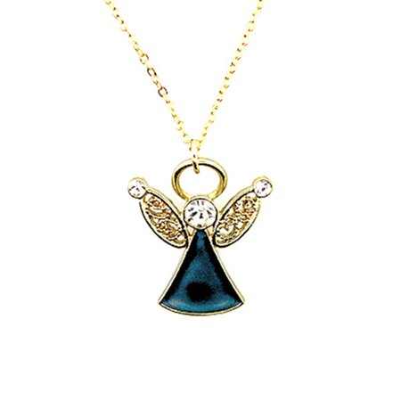 Angel Mood Pendant Necklace Chain with Adjustable Chain](Mood Necklace Color Chart)