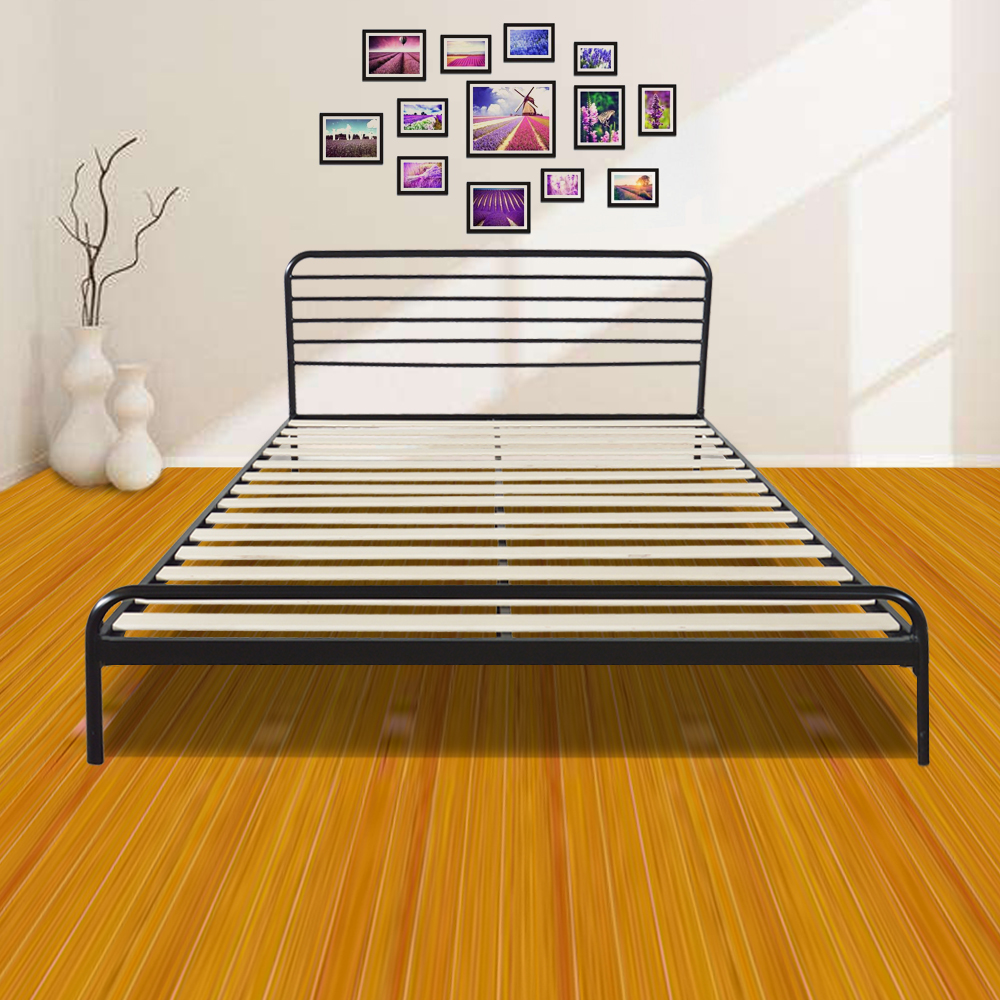 Zimtown Sturdy Metal Bed Frame Queen Size Platform Bed Mattress