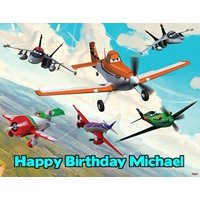 Disney Planes Image Photo Cake Topper Sheet Personalized Custom Customized Birthday Party - 1/4 Sheet