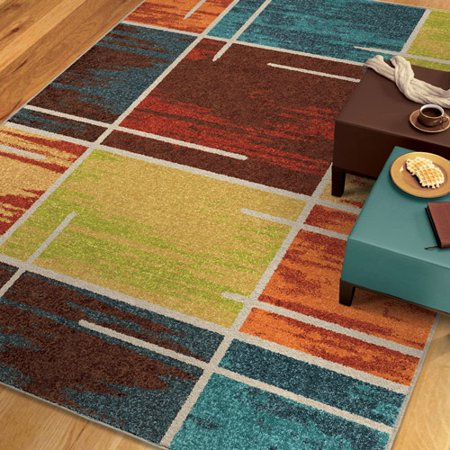 Orian Rugs Multiple Blocks Area Rug, Multi-Color