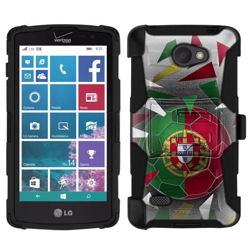 LG Lancet Armor Hybrid Case Soccer Ball Portugal Flag by Trek Media Group