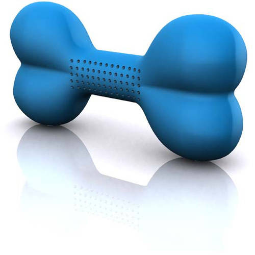"Hugs Pet Products Hydro Dog Bone Toy, Blue, 6"" x 3"" x 1.75"""