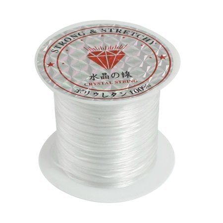 Metallic Beading Thread (Unique Bargains Pendant Jewelry Beading Thread Stretchy Crystal String Cord Spool White)