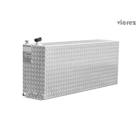 Vicrez Aluminum Tank 41 Gallons Diesel Auxiliary Rectangle Fuel Transfer Tank VZT100026 Diesel Fuel Transfer Tanks