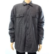 Club Room NEW Gray Mens Size Large L Double Pocket Sherpa-Lined Shirt Jacket