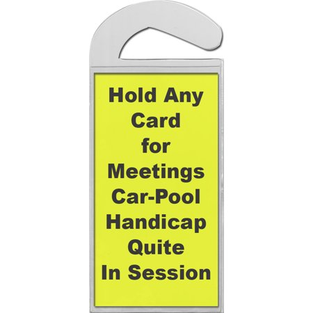 Handicap Permit  Placecard Holder Set of 2 Perfect for Auto Car Vehicle