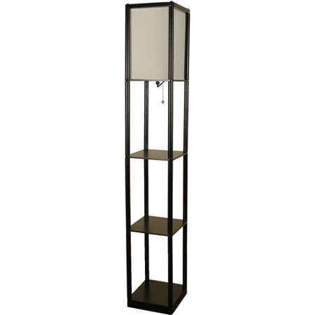kp shelf floor lamp c with etagere charcoal mainstays finish lamps