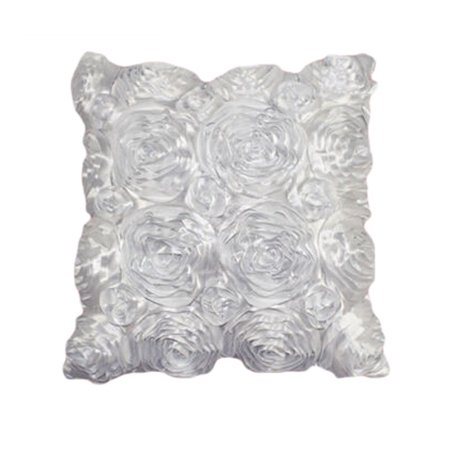 Satin Throw Pillow - Fashion Floral Decorative Satin Throw Sofa Pillow Case Cushion Cover WH