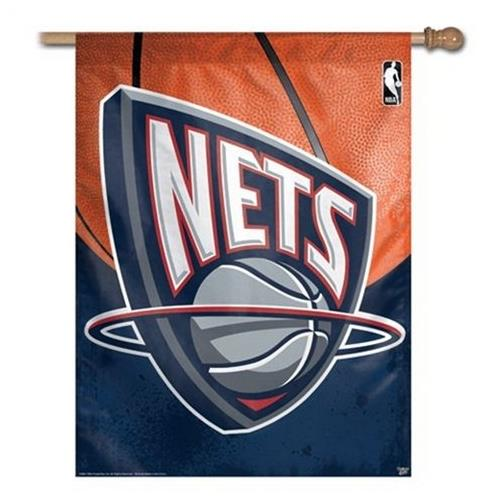 New Jersey Nets Vertical Outdoor House Flag