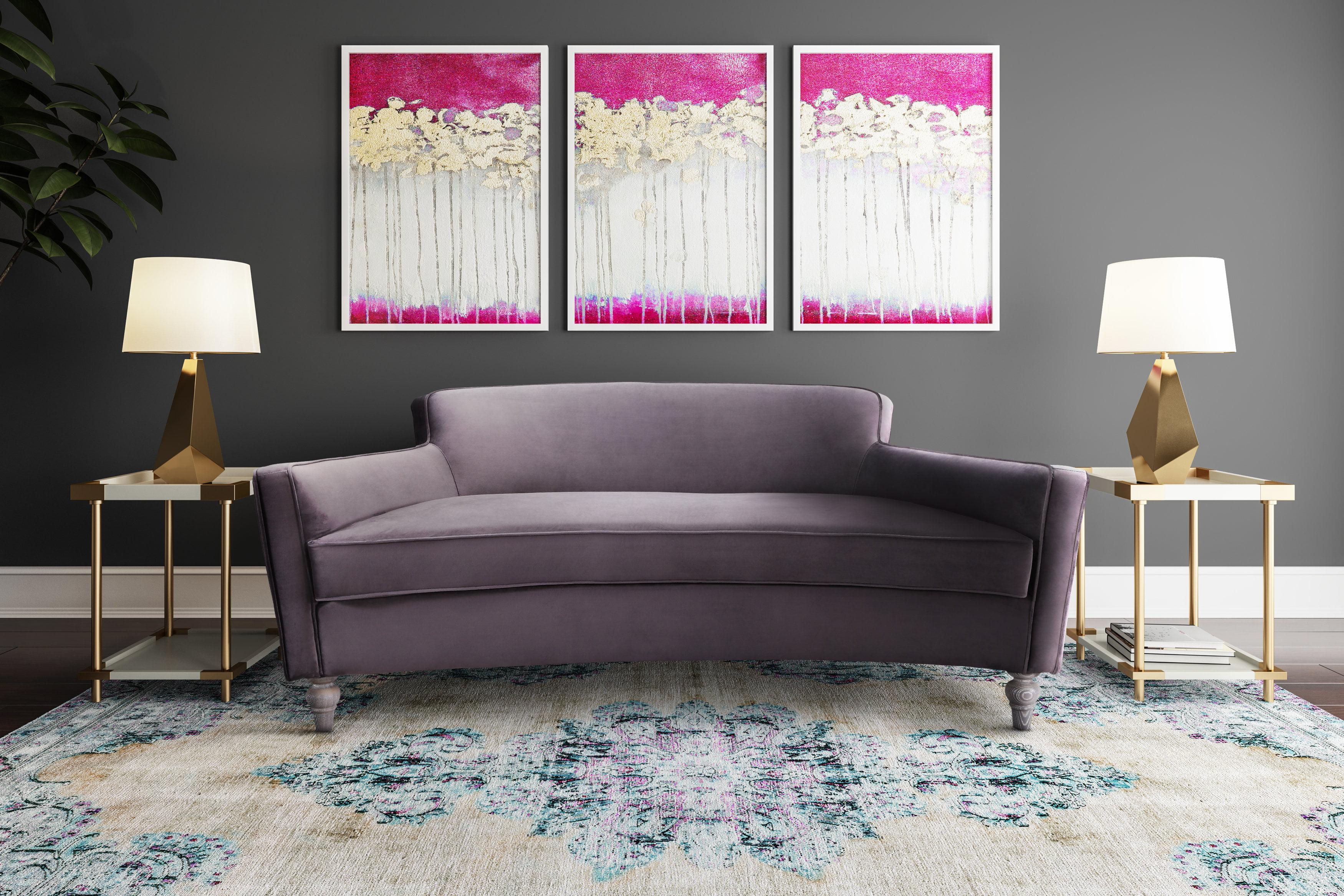 discount 2pcs sofa set blue grey plush polyfiber sofa love