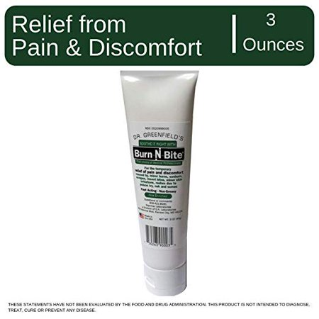 Dr Greenfields Burn N Bite - Fast Acting Topical Relief of Minor Burns, Sunburn, Itch Relief, Poison Ivy, Oaks- Non-Greasy, Aloe (Best Topical For Sunburn)