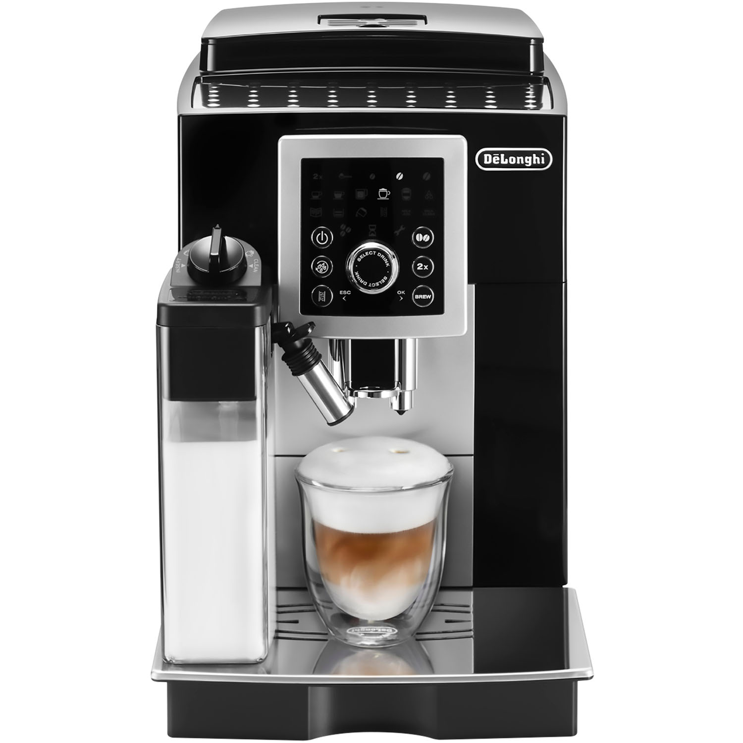 DeLonghi Magnifica S Smart Fully Automatic Espresso, Cappuccino and Coffee Machine with One Touch LatteCrema System